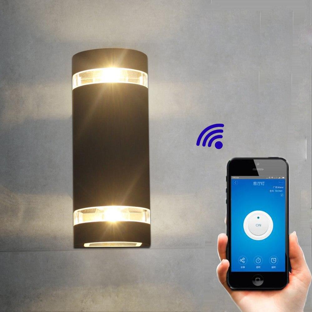 Jiawen mur LED lumière sans fil Wifi interrupteur minuterie intelligente travailler avec Alexa pour Google Home AC 90-265 V