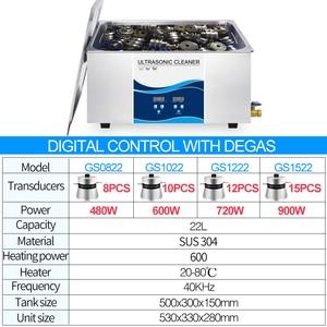 Image 2 - Granbo Digital Ultrasonic Cleaner 22L 900W DEGAS ความร้อนทำความสะอาดอัลตราโซนิกอุตสาหกรรมสำหรับชิ้นส่วนเครื่องยนต์รถยนต์ลบน้ำมัน