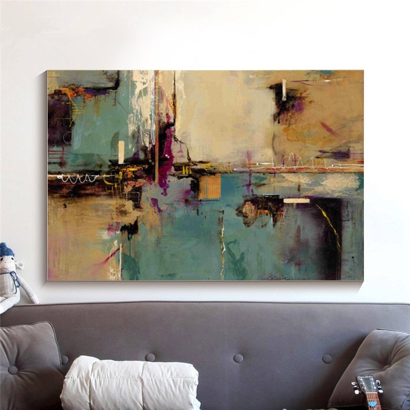 Canvas Printings Modern Abstract Painting Picture HD Prints Canvas Wall art for Living room Dining Room Hotel Decoration in Painting Calligraphy from Home Garden