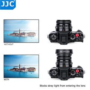 Image 3 - JJC Bayonet 라운드 카메라 렌즈 후드 43mm 스레드 크기는 FUJINON 렌즈 XF35mm/25mm F2 R WR 용 Fujifilm LH XF35 2 대체합니다.