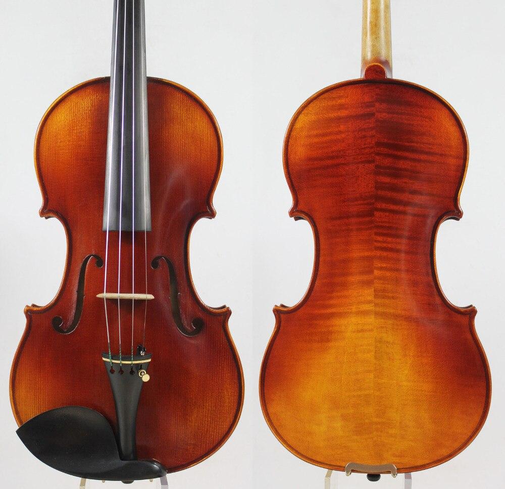 Allemand Foncé! UN modèle Strad 4/4 Violon violino Tous Les Bois Européenne Riche clair! rapide réponse! livraison cas, arc, colophane et gratuite!