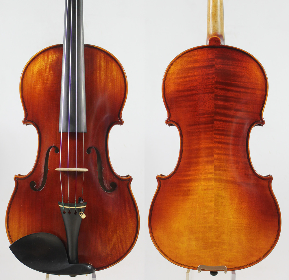 German Dark!A Strad model 4/4 Violin All European Wood Rich clear!Fast response!Free case, bow, rosin and shipping! free shipping 4 4 size 430c pernambuco cello bow high quality ebony frog with shield pattern white hair violin parts accessories