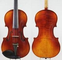 German Dark A Strad Model 4 4 Violin All European Wood Rich Clear Fast Response Free