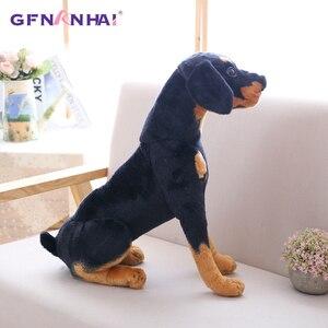 Image 3 - 1pc 30/40cm Simulation Dog Plush toy Creative Realistic Animal Sitting Dog Dolls Stuffed Soft Toys for Children Birthday Gift