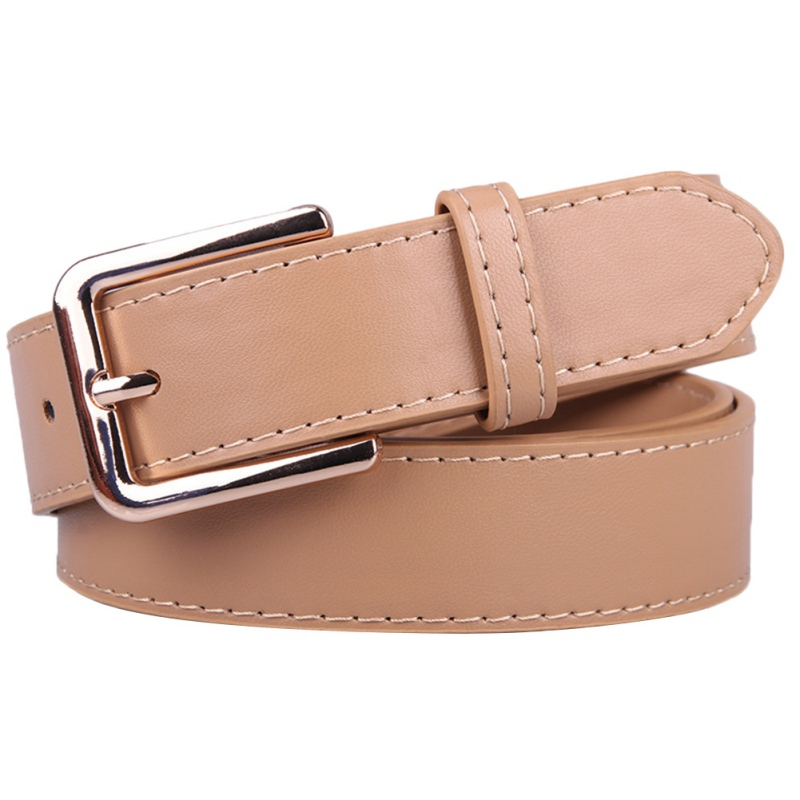 Fall Winter Women's Belts Female Dress Decorative Waistband Fashion Faux Leather Metal Pin Buckle Waist Straps