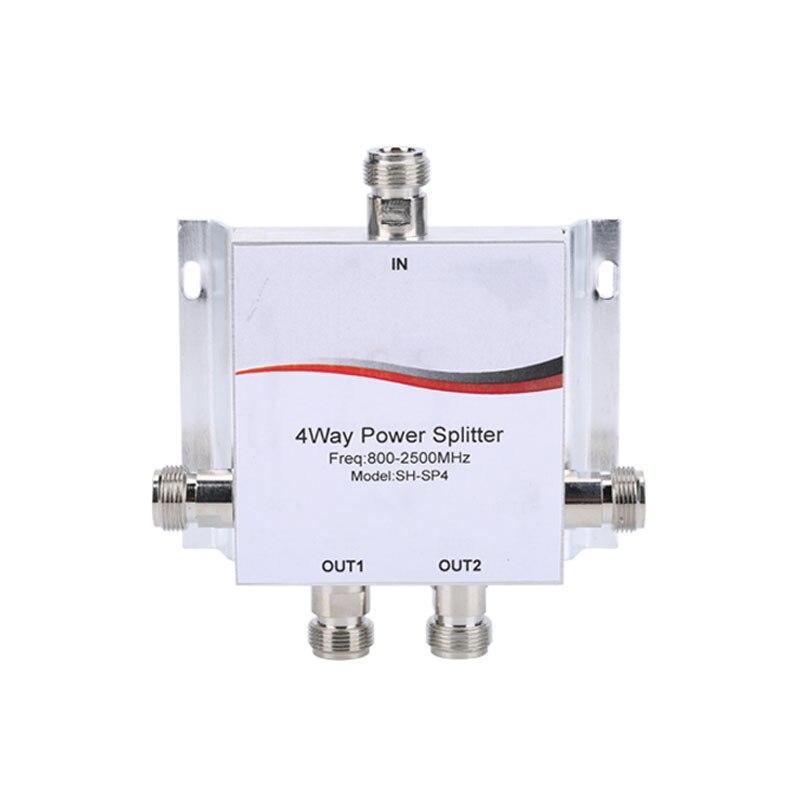 Commercio all'ingrosso 800 ~ 2500 MHz N-way Potenza RF Divider Splitter Per GSM e CDMA DCS & 3G 4G Ripetitore di Segnale