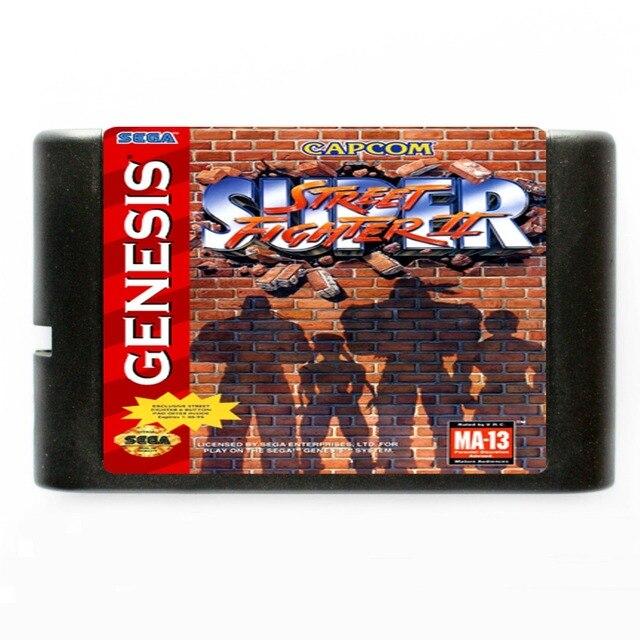 Sega MD игровая карта-супер уличный истребитель 2 для 16 бит sega MD игровой картридж NTSC только