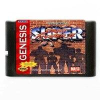 Sega MD card game-Super Street Fighter 2 para Cartucho de 16 bits da Sega MD jogo NTSC Somente