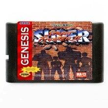 Sega MD game card - Super Street Fighter 2 for 16 bit Sega MD game Cartridge NTSC Only