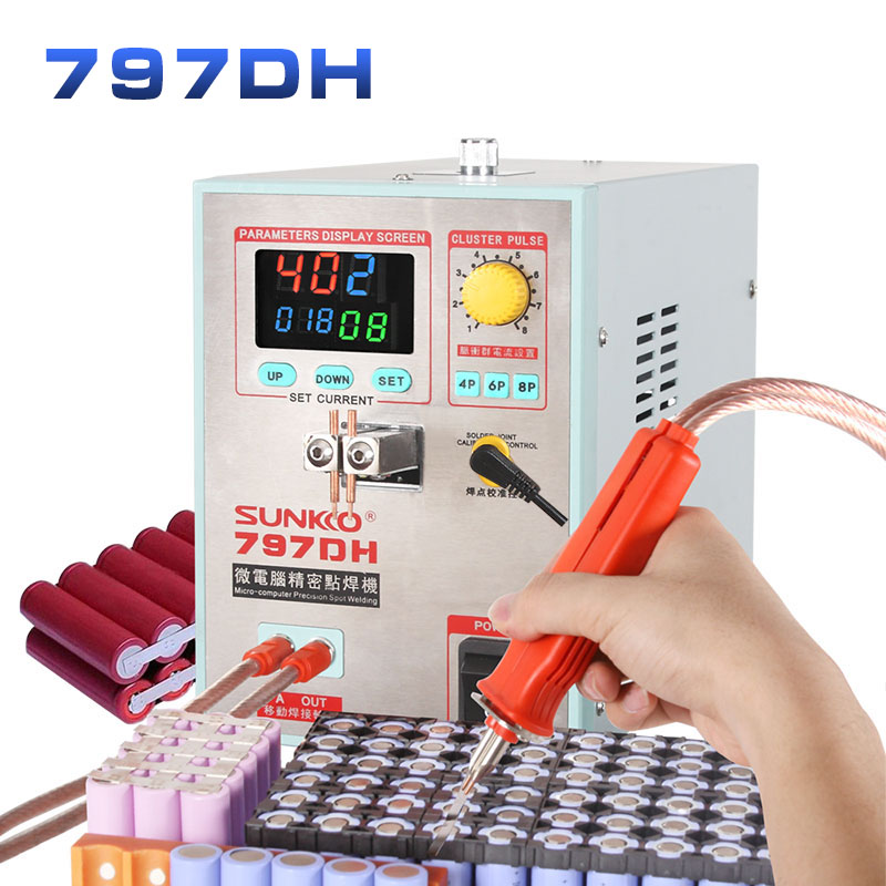 SUNKKO 797DH 18650 Battery Spot Welding Machine 3.8KW High Power Spot Welder Thickness Up To 0.35mm Precision Pulse Spot Welder