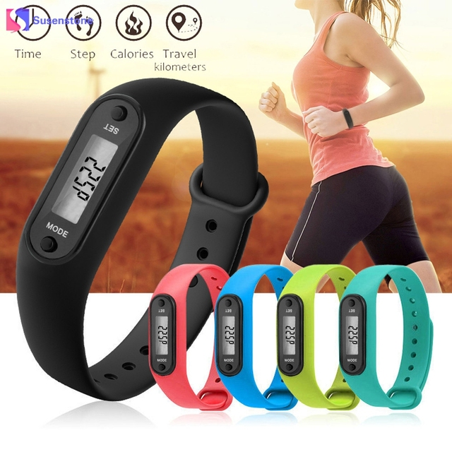 Run Step Watch Women Fashion Digital Silicone Bracelet Watches Pedometer Calorie