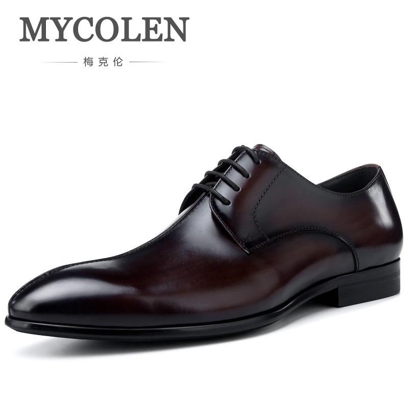 MYCOLEN New Derby Shoes For Men Fashion Men Leather Shoes Spring Autumn Men Popular Gentry Patent Leather Men Shoes Tenis hot sale new oxford shoes for men fashion men leather shoes spring autumn men casual flat patent leather men shoes size 46