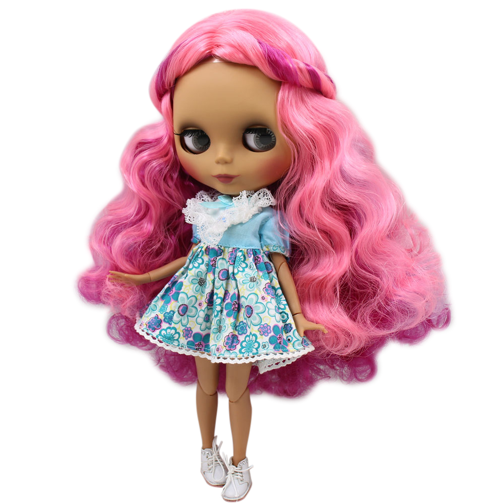 ICY Nude Blyth doll No BL2264 2137 2369 Rose mixed hair without bangs JOINT body Black