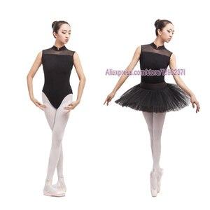 Image 2 - Балетное трико для женщин, новинка 2020, черный цвет, эластичный тренировочный танцевальный костюм для взрослых, высокое качество