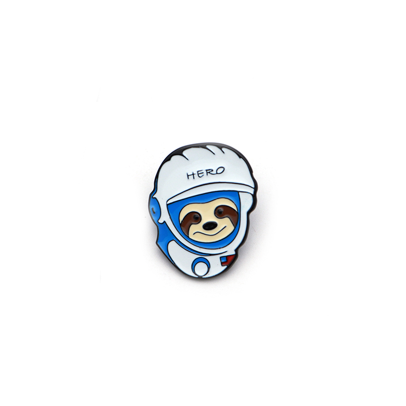 Apparel Sewing & Fabric Arts,crafts & Sewing Cartoon Animals Sloth Astronaut Badge Enamel Pin For Denim Jacket Oil Drop Collar Corsage Accessories Scarf Buckle Sc4113 Professional Design