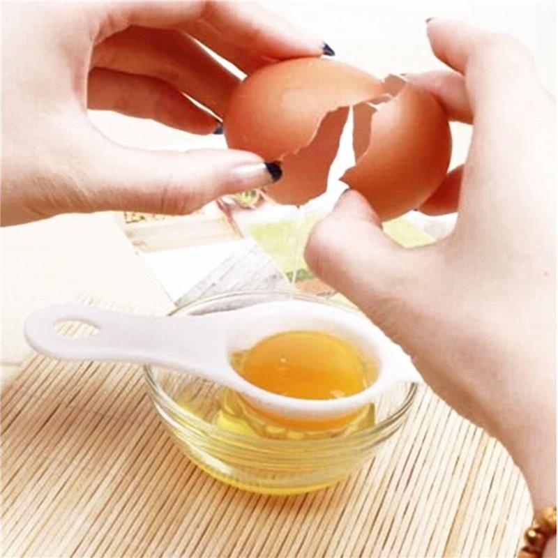 Yema de huevo Separador Blanco Plástico separa Hornear Divisor Herramienta Cocina Utensilios para hornear