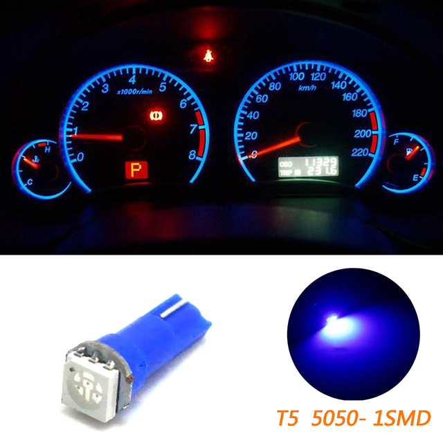 10 stks Auto Instrument Verlichting T5 70 73 74 Wedge Ultra Blauw 1 ...