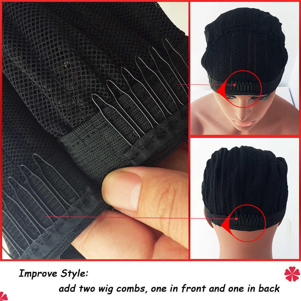 Оптовая продажа основа под парик Кепка для изготовления париков Регулируемый Плетеный парик Кепка Ткачество Шапка чулок инструменты для изготовления париков черная нейлоновая сетка для волос