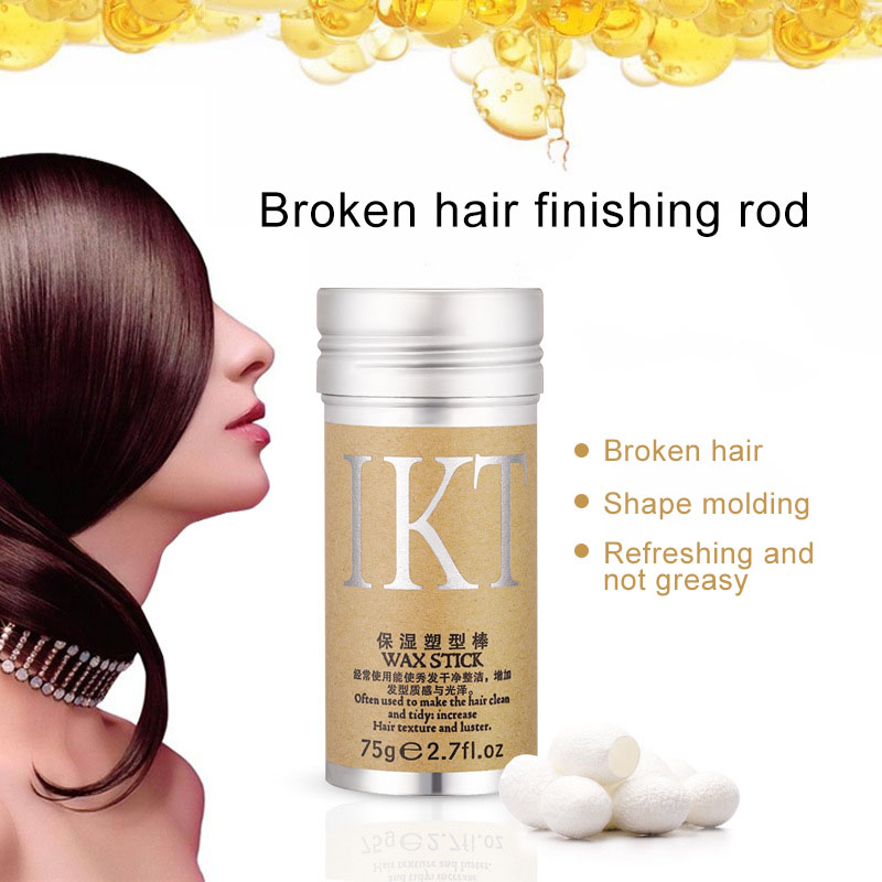 1 Pcs Hair Styling Pomade Stick Not Greasy Rapid Fixing Bang Hair Wax Rod Finishing Cream MH88