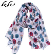 Women Beach Sunproof Voile Long Scarf Summer Lightweight Head Wraps Blanket Colorful Polka Dot Sketch Tree Printed Hijab Shawls цены