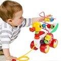 Утенок прицеп мини вокруг бусины обучающая игра игрушки для детей дети