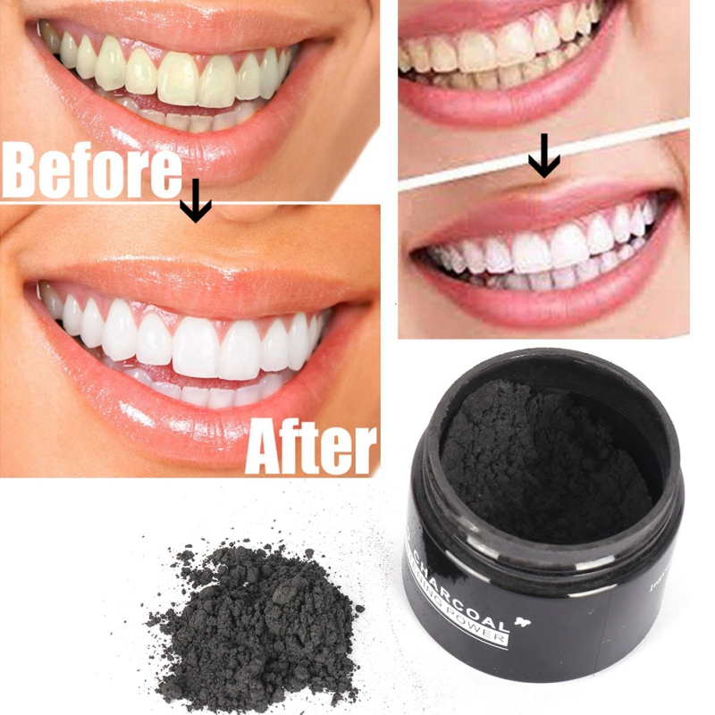 Aphrodi Store Natural Tooth Teeth Whitening Powder Smoke Coffee Tea Stain Remove Oral Hygiene Dental Care Bamboo Activated Charcoal Powder W1