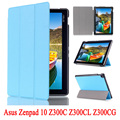 Capa de couro pu stand case para asus zenpad 10 z300c z300cl P023 Z300CG Tablet Shell Pele Para Z300 + Protetores de Tela + Stylus