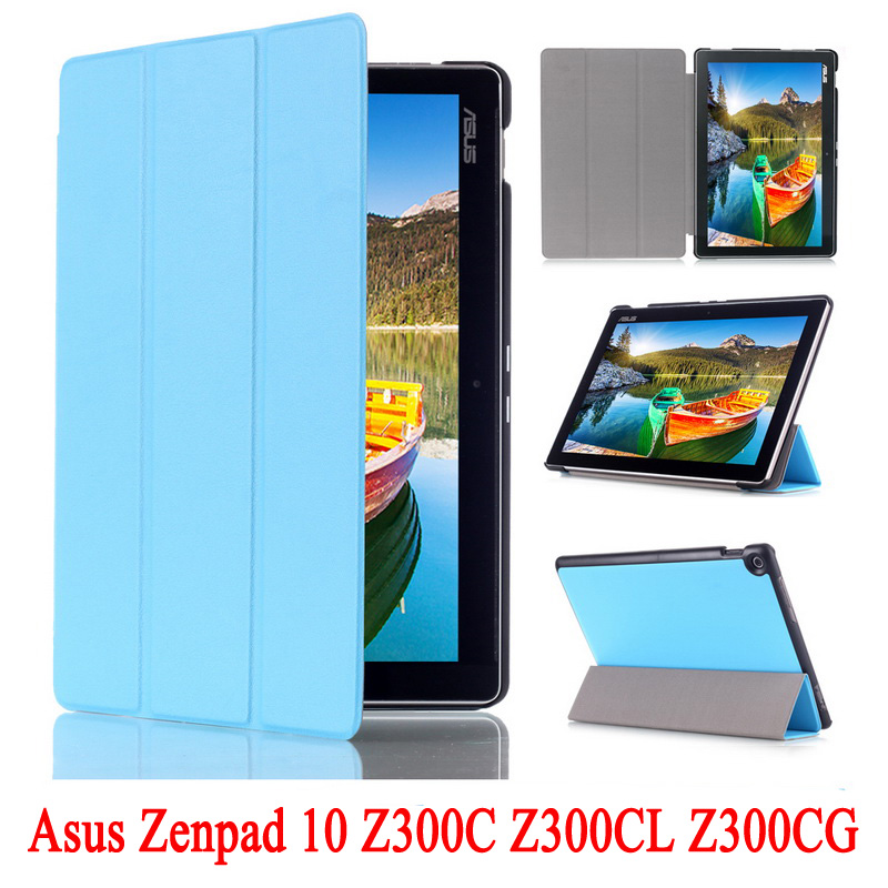 PU Leather Cover Stand Case for Asus Zenpad 10 Z300C Z300CL Z300CG Tablet Shell Skin For Z300 P023 + Screen Protectors + Stylus цена и фото