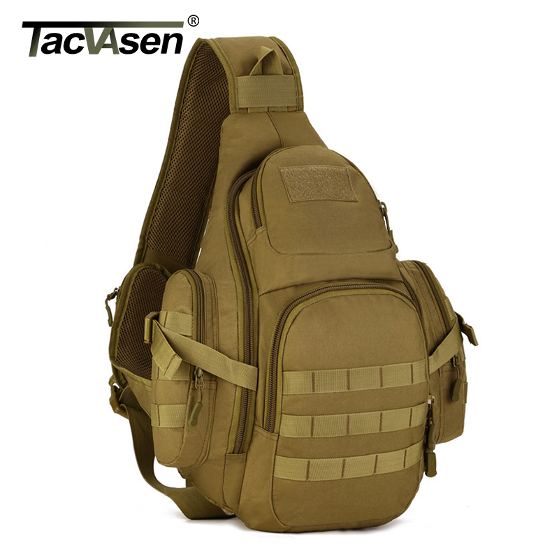 TACVASEN Tactics Laptop Backpacks Molle Military Backpack Nylon Bags Shoulder Waterproof Pack Men's Travel Backpack School Bags tacvasen men s tactics backpack travel shoulder bags camouflage rucksack 15 6 inches laptop camera military bag td szlm 017