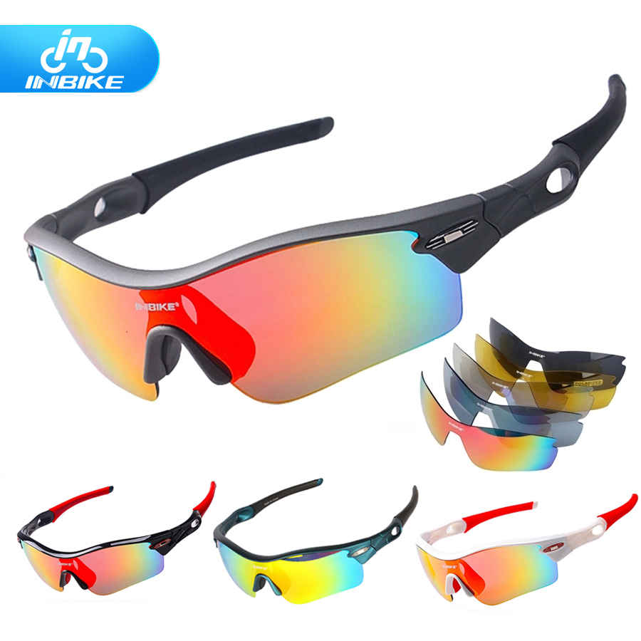 INBIKE polarized cycling eyewear  Bicycle glasses 5 lens UV Proof Mountain Bike Riding bike sport sunglasses men women polarized sport cycling glasses men women bicycle sun glasses mtb mountain road bike eyewear biking sunglasses 2016 goggles tr90
