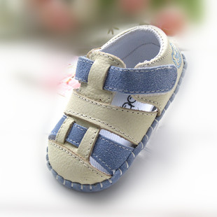 Summer Soft Outsole Genuine Leather First Walkers Baby Girl Boy Shoes Summer Toddlers bb Shoes 6