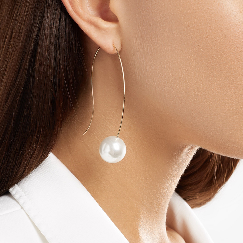 2018 Fashion Large Circle Geometry Metal Earring Ear Stud Earrings Women Jewelry