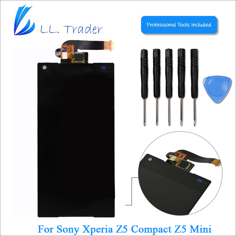 ФОТО LL TRADER Brand New Black Replacement Display Screen For Sony Xperia Z5 Compact Z5 Mini LCD E5803 E5823 Touch Digitizer Assembly