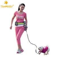 Pet Dogs Elastic Belt Running Dog Leash Lead Sports Jogging Walking Pet Collar Rope Hand Free