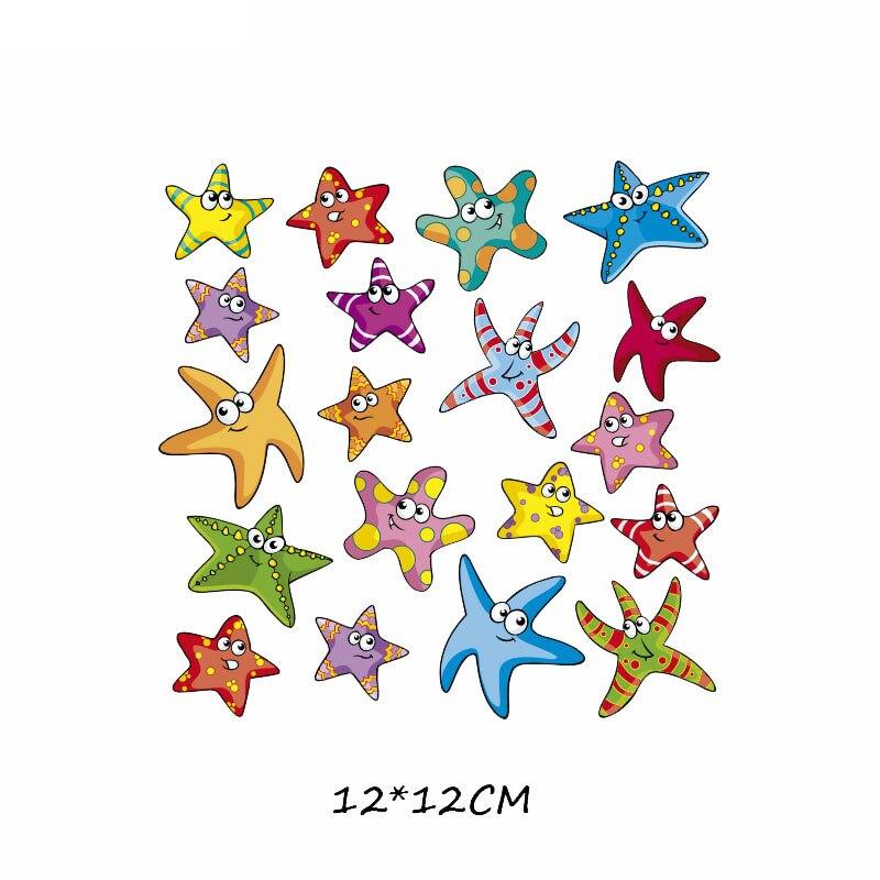 Набор патчей с изображением животных из мультфильмов, милые патчи с изображением единорога, кошки, совы, собаки, цветов для детей, одежда для девочек, футболка, сделай сам, термопресс - Цвет: 546