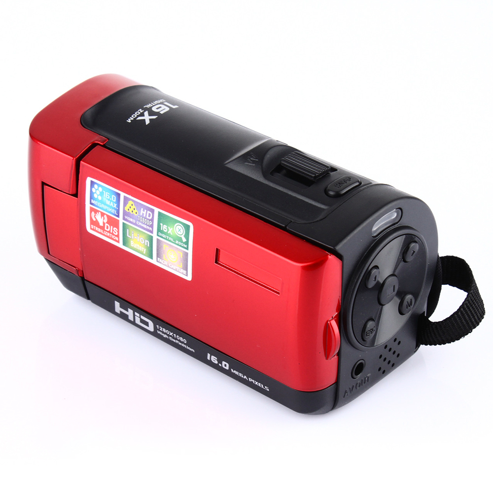 16 Million Pixels Digital Camera Camcorder 1080p Lithium Battery Hd Photo Home F