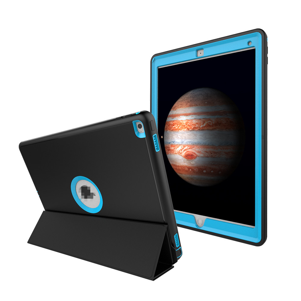 Case For iPad 2346 Air 2 With Automatic Smart Cover Wake/Sleep Function + Stylus Pen Dur ...