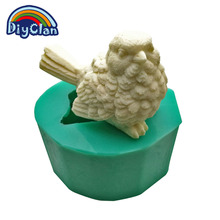 New arrival (1pc/lot) DIY silicone molds for cake pudding jelly soap 3D Owl salt sculpture ice chocolate mould