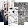Wood Design Plastic Cover Case For Nubia Z17S NX563J Case Back Coque Luxury Matte Soft Cover