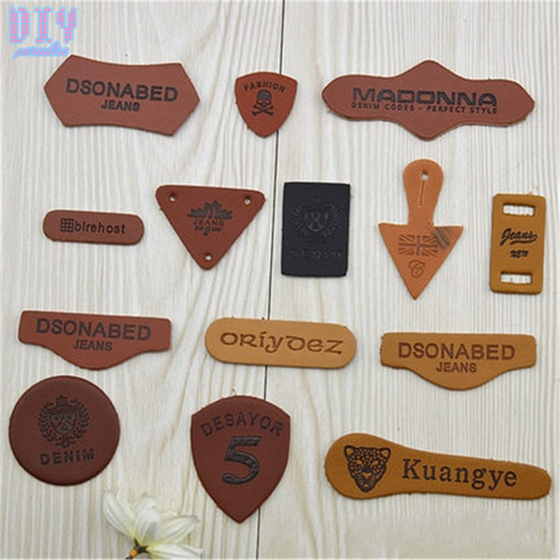 Fashion 70pcs Letter Number PU leather Garment Labels Tag ...