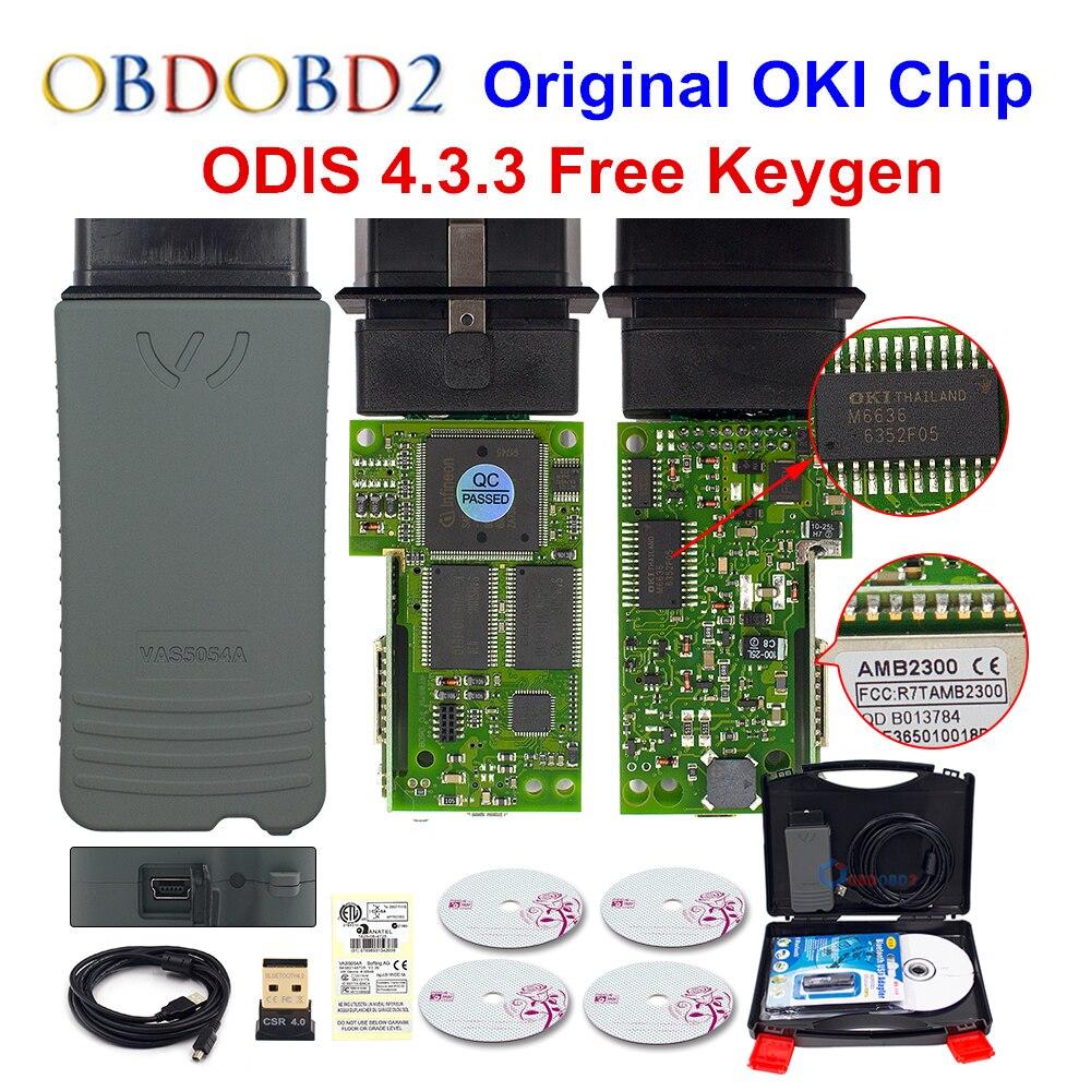 Original VAS5054 OKI Keygen VAS5054A Bluetooth AMB2300 ODIS V4.3.3 Für VW/AUDI/SKODA/SEAT VAS 5054A VAS6154 WIFI UDS Für VAG