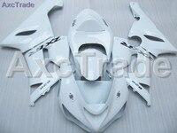 Blanc Moto Carénage Kit Pour Kawasaki Ninja ZX6R 636 ZX-6R 2005 2006 05 06 Carénages Custom Made Moto Carrosserie Injection C421