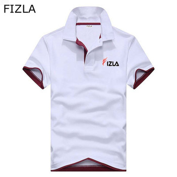 FIZLA Brand clothing New Men Polo Shirt Men Business Casual Print male polo shirt Short Sleeve breathable polo shirt Summer