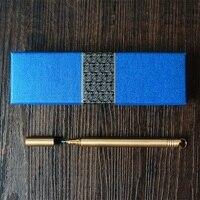 Sıcak satış hediye Retro Nostaljik Pirinç Kalem Metal Imza Kalem Bakır jel Kalem Açık EDC Araçları