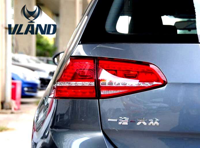 VLAND manufacturer for car Rear Lamp Golf7 Taillight 2013-2015 MK7 LED Tail Lamp DRL+Brake+Park+Signal led Light Plug and Play hireno tail lamp for mercedes benz w220 s280 s320 s350 s500 s60 1998 05 led taillight rear lamp parking brake turn signal light
