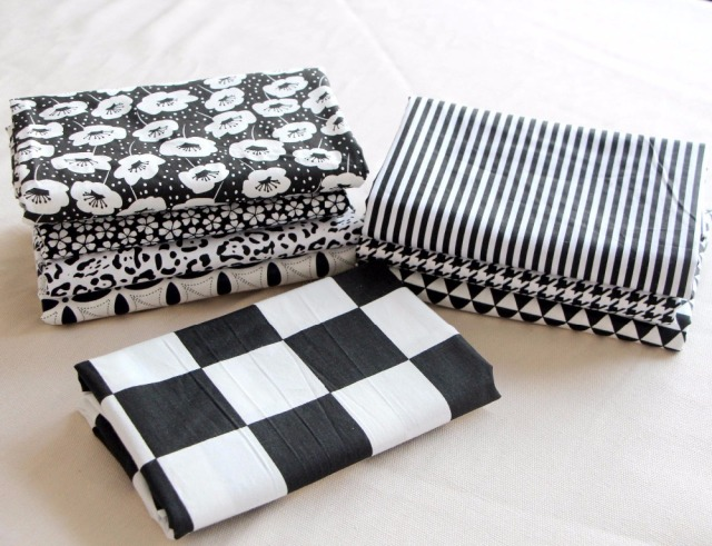 Black White Upholstery Curtain Cotton Fabric For Bedding Furniture