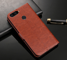 Y6 2018 Leather Case Premium Wallet Stand Slots For Huawei Prime ATU-L31 ATU-L42 Y 6