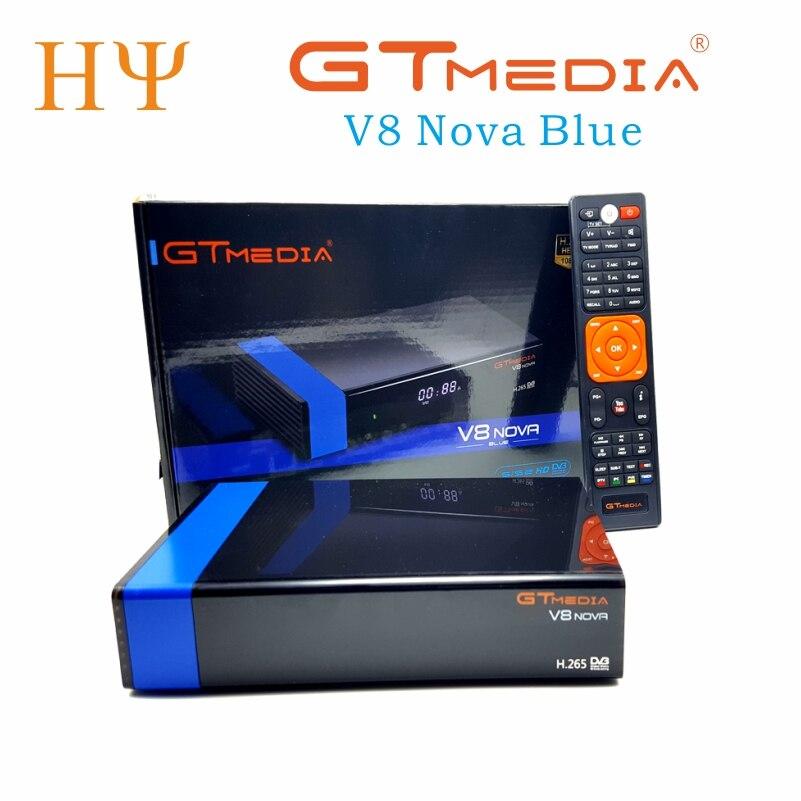 GTmedia V8 Nova bleu DVB-S2 HD récepteur Satellite prise en charge H.265 Cccam nouvelle puissance vu biss construit WiFi décodeur