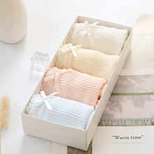 NO Gift Box 4pcs / 1set Solid Colors Underwear Women Panties Comfortable Pretty Briefs for Seamless Waist