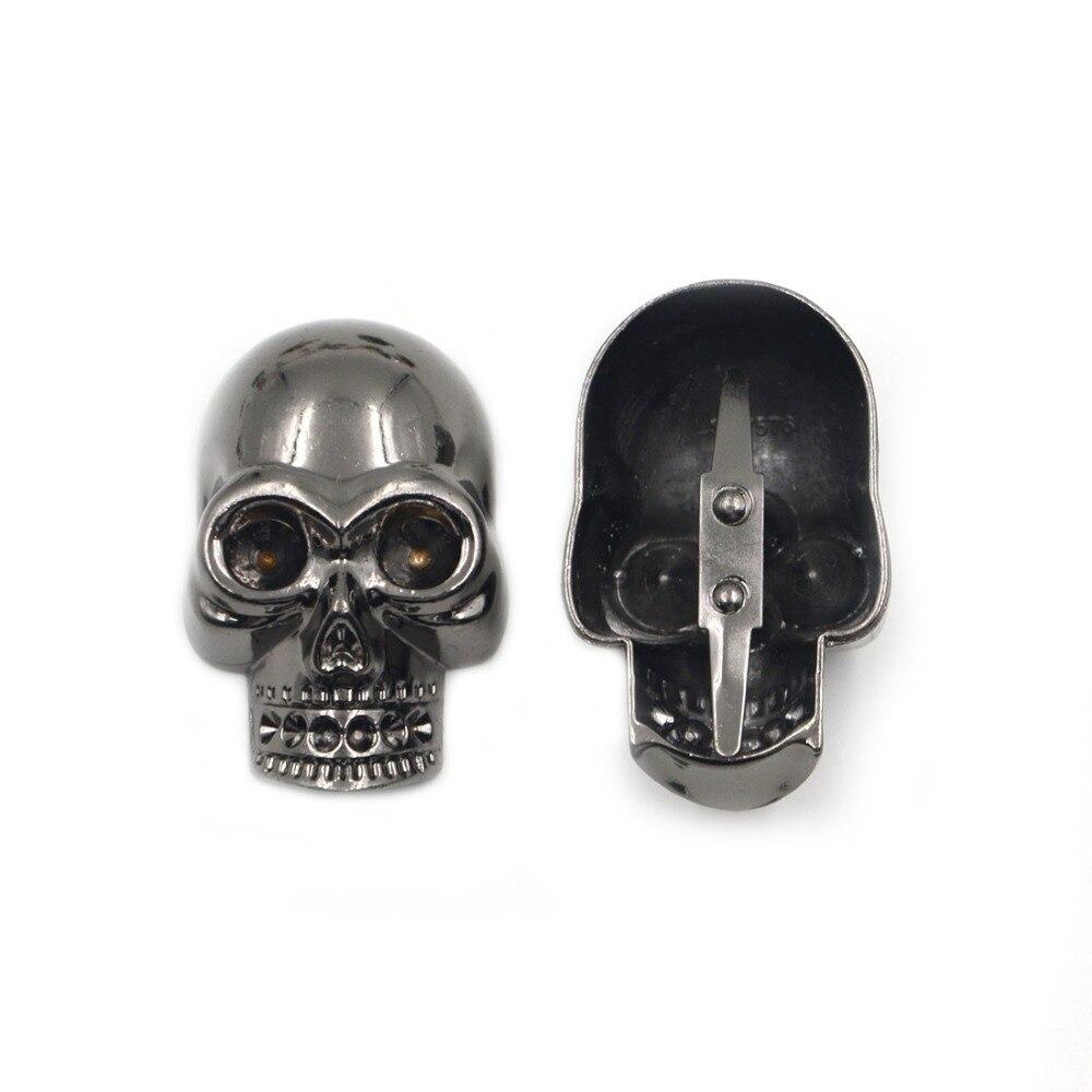 5 шт. 49*31 мм Черный Цвет Череп Заклепки Nailheads Punk Rock DIY Шпильки Шипы Клипы Pick